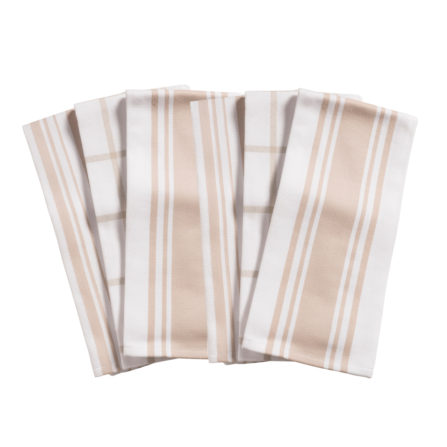Taupe All Purpose Kitchen Towels Set of 6