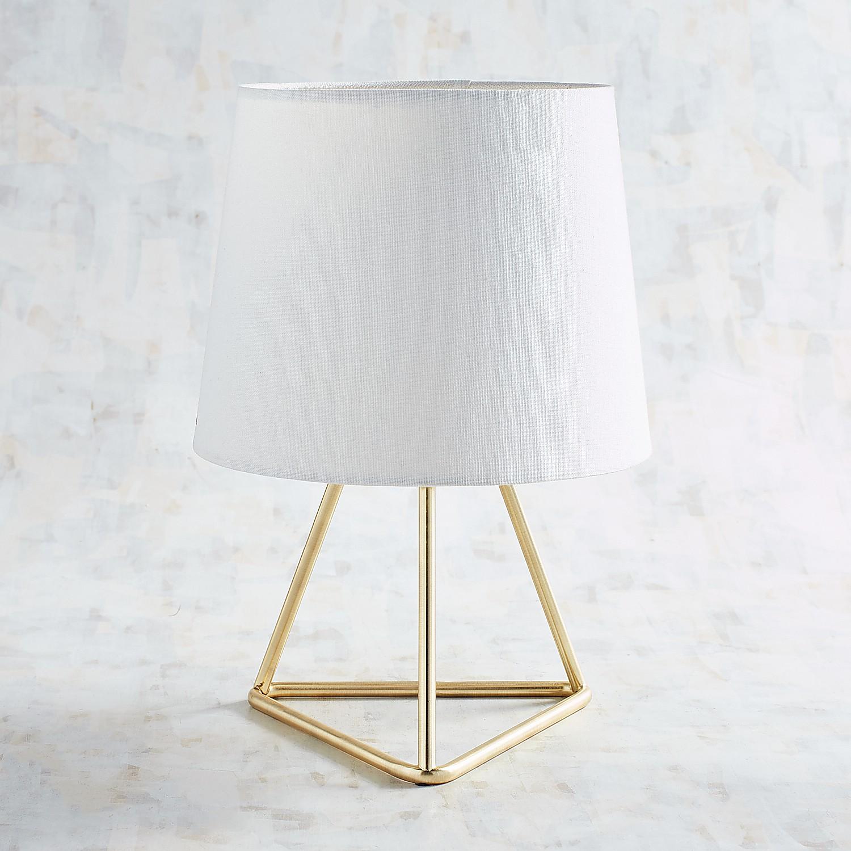 Golden Geometric Accent Lamp