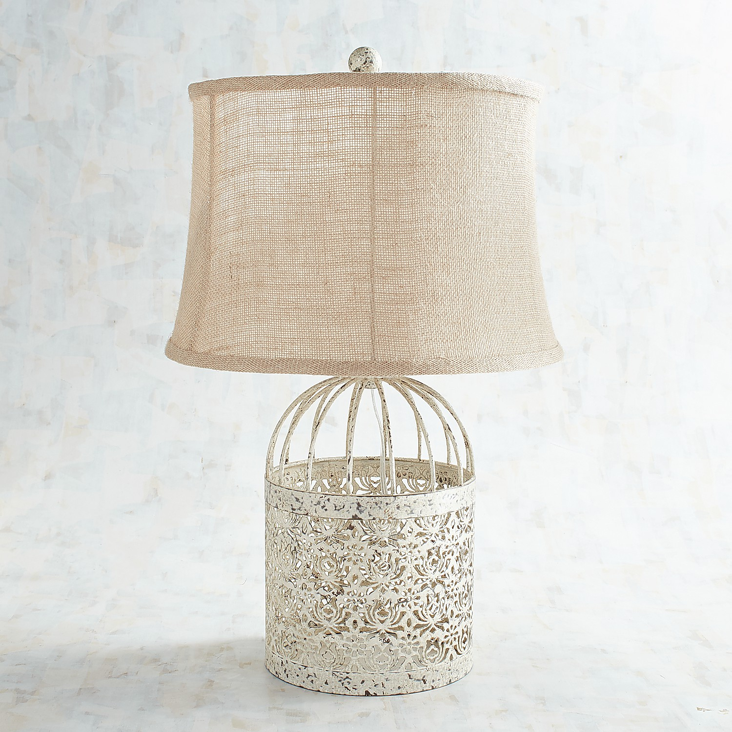 variation thumbnail of Metal & Linen Table Lamp
