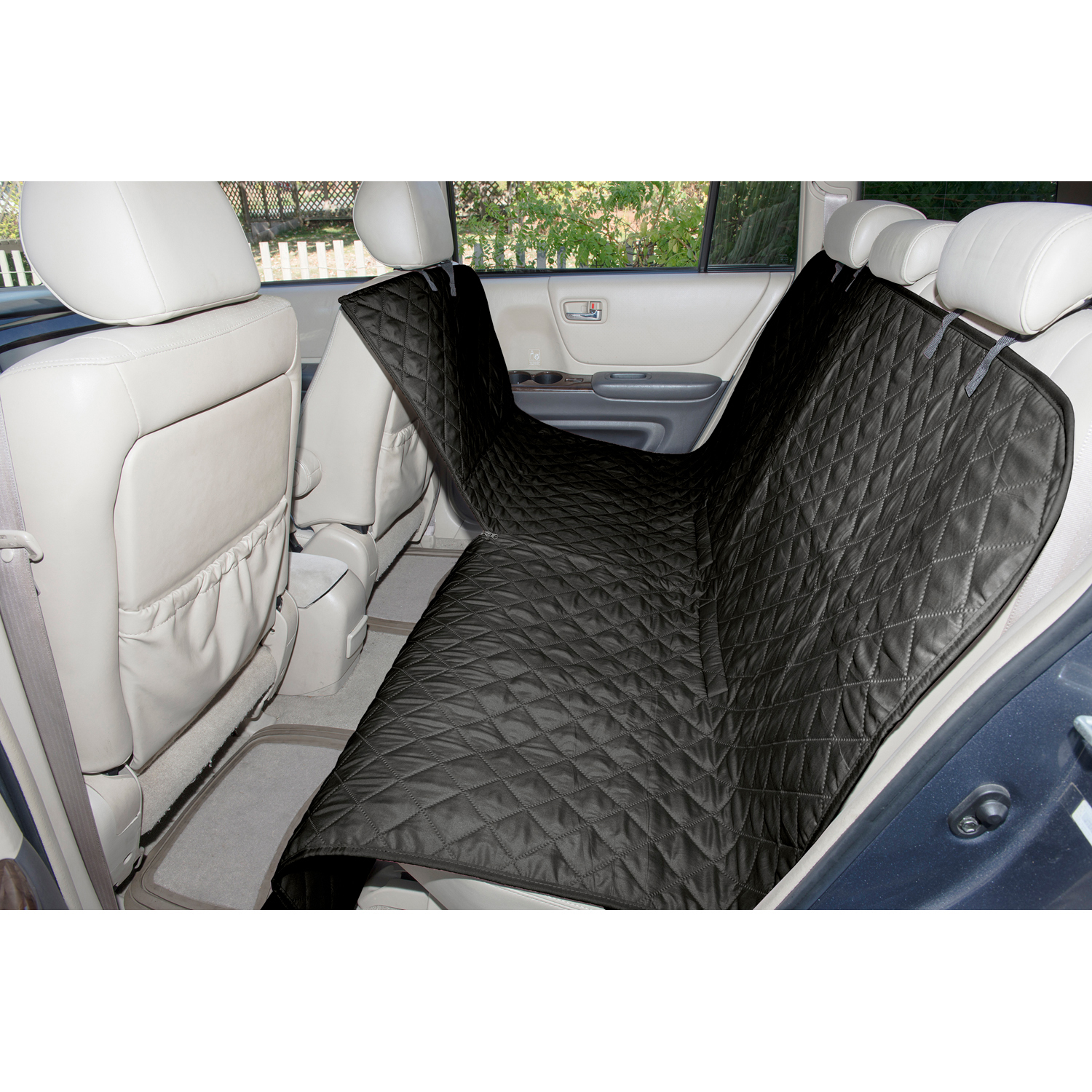 Black Quilted Hammock Car Seat Cover