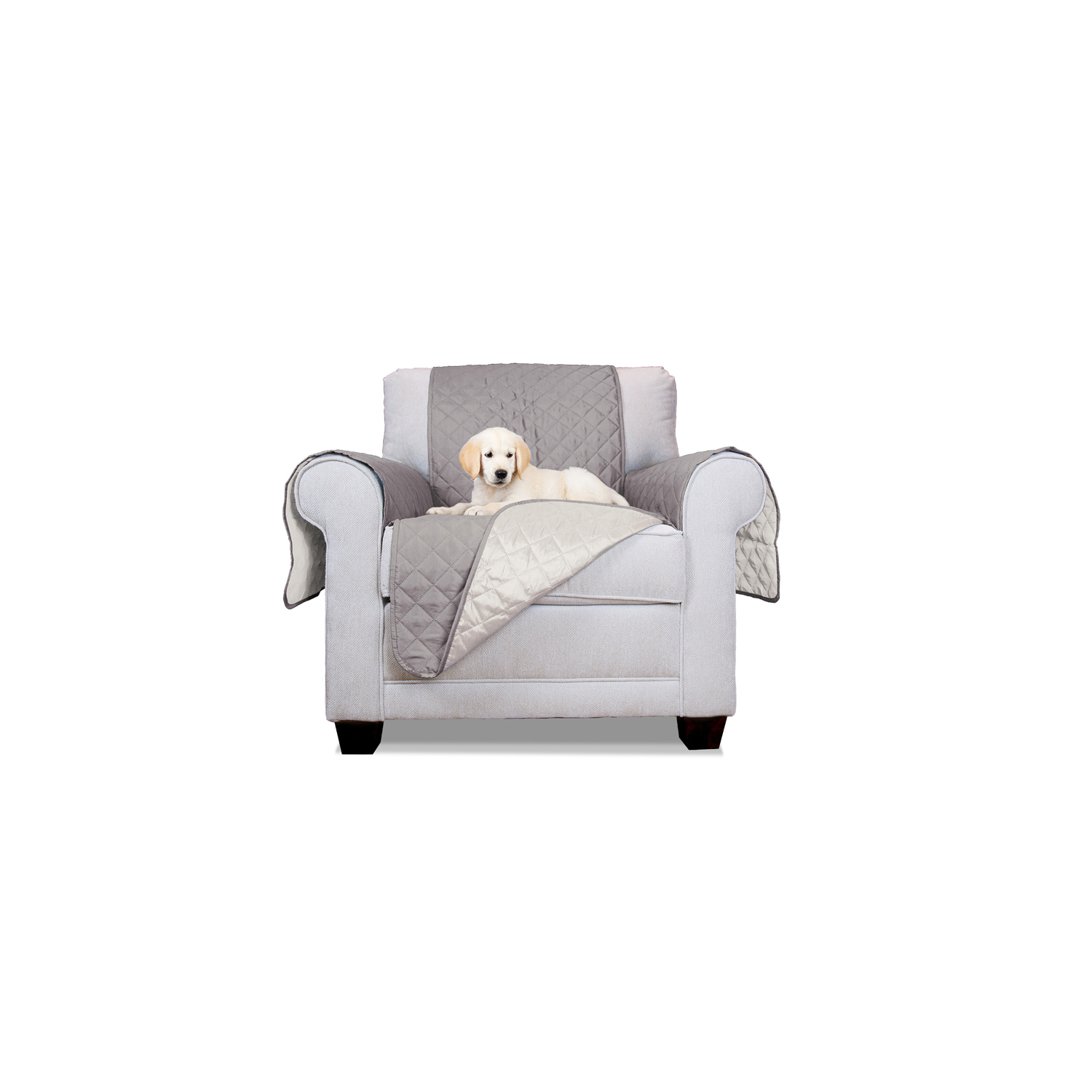Gray/Mist Reversible Chair Protector