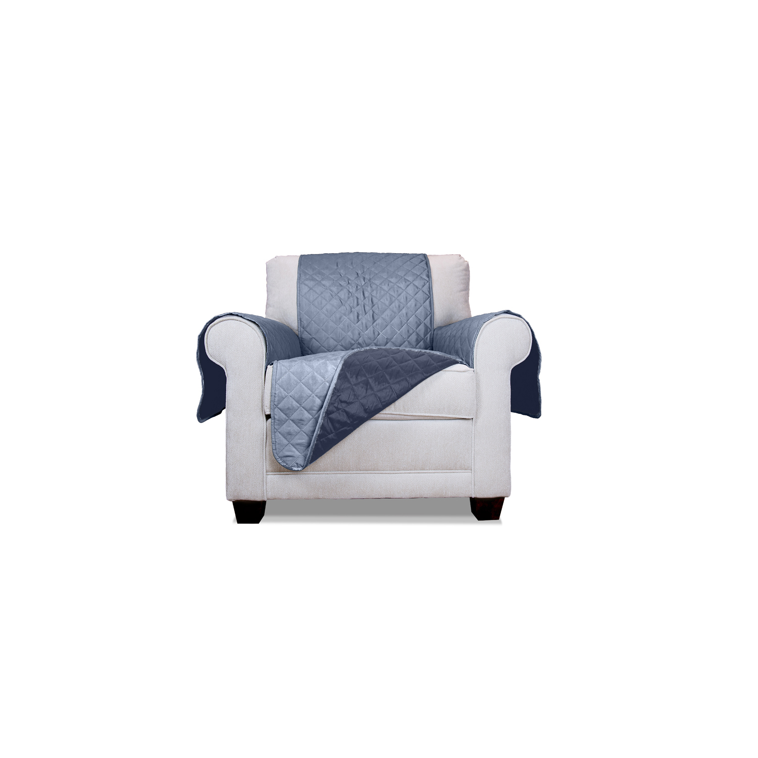 Navy/Light Blue Reversible Chair Protector