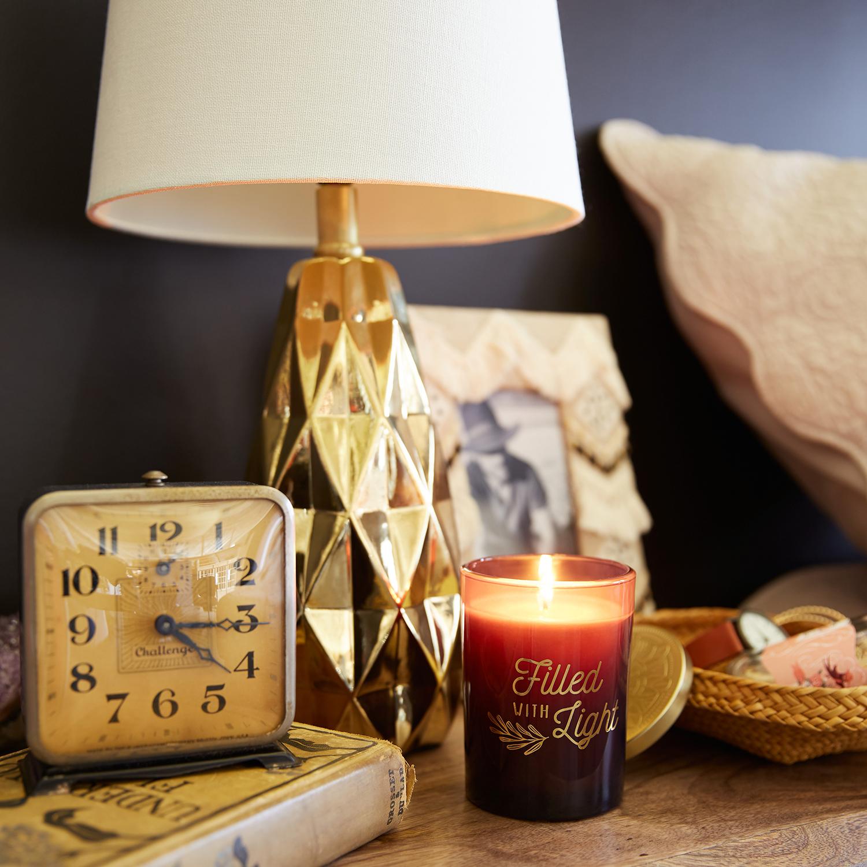 Geometric Golden Ceramic Table Lamp
