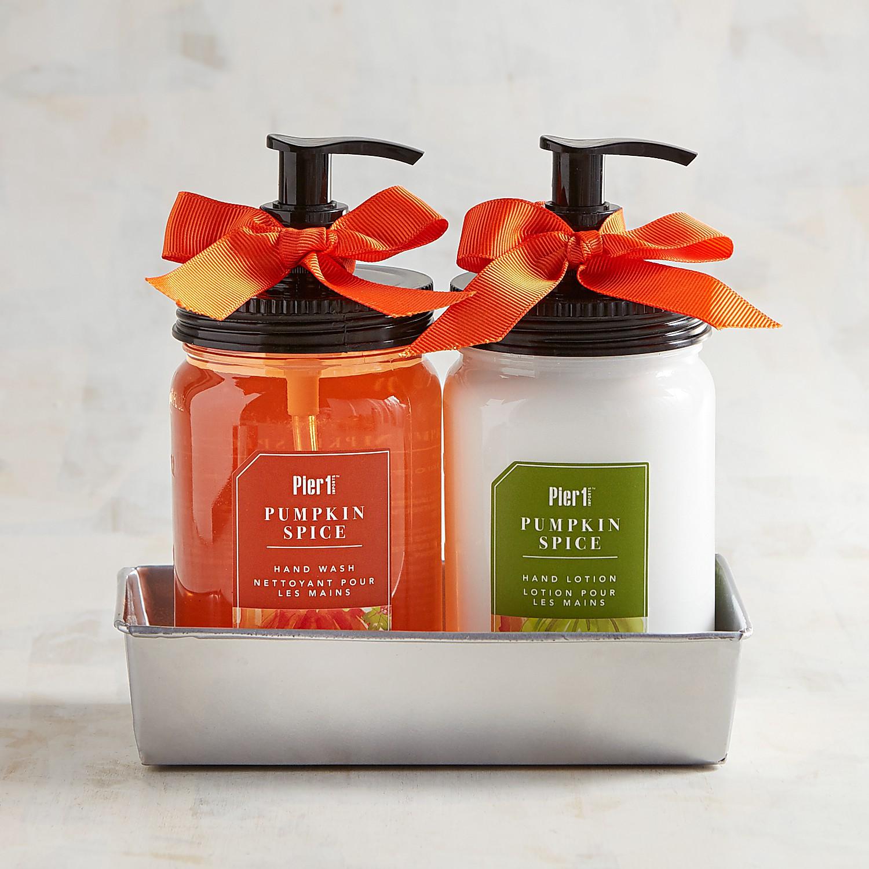 Pumpkin Spice Soap & Lotion Caddy