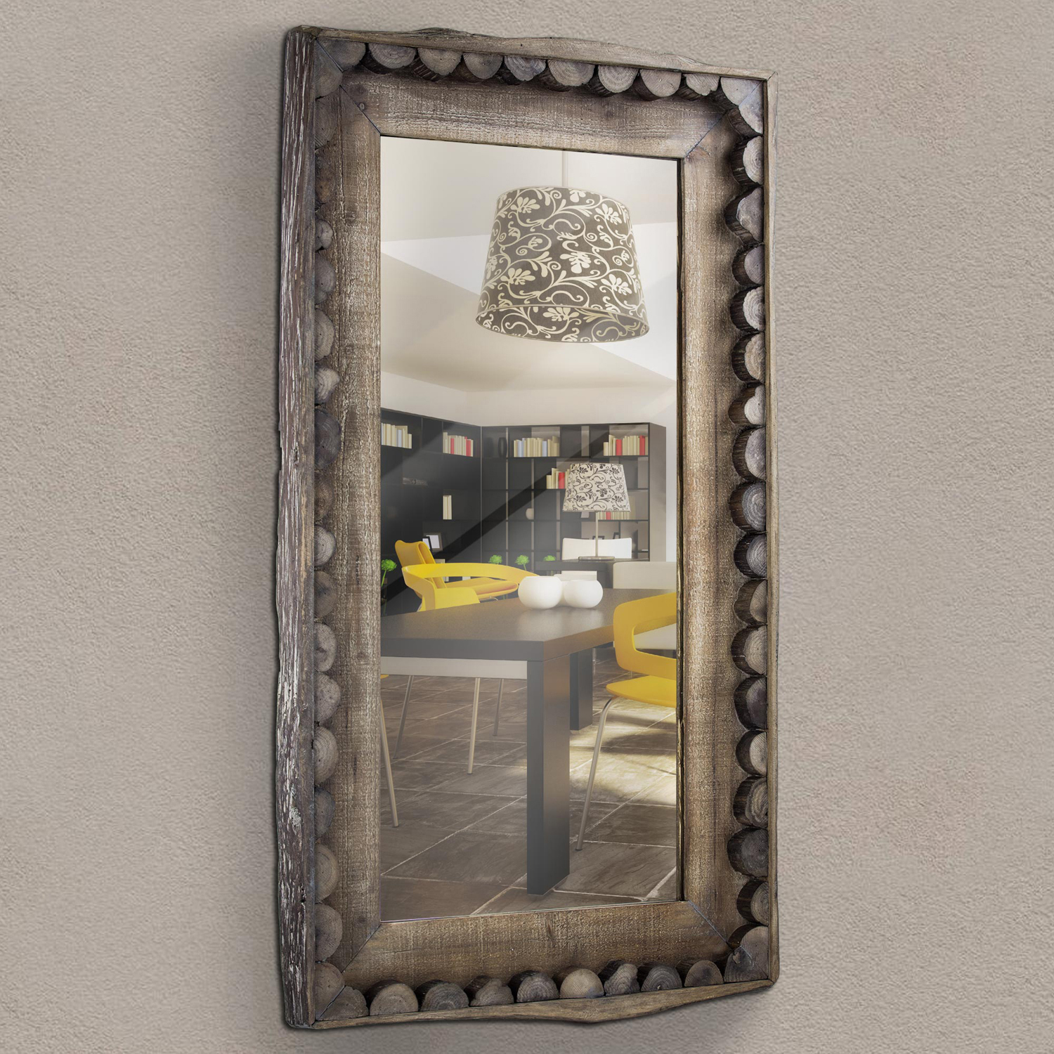 Scalloped Country Farmhouse Mirror