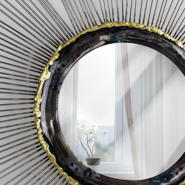 Silver Sunburst Starburst Mirror