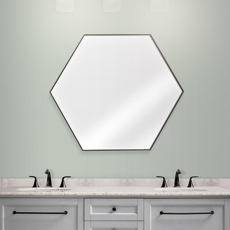 Camden Hexagon Wall Vanity Infinity Mirror