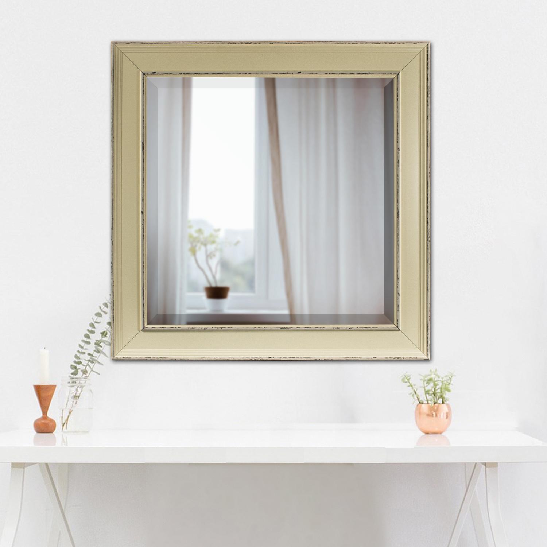 Cream Camden Medium Square Mirror