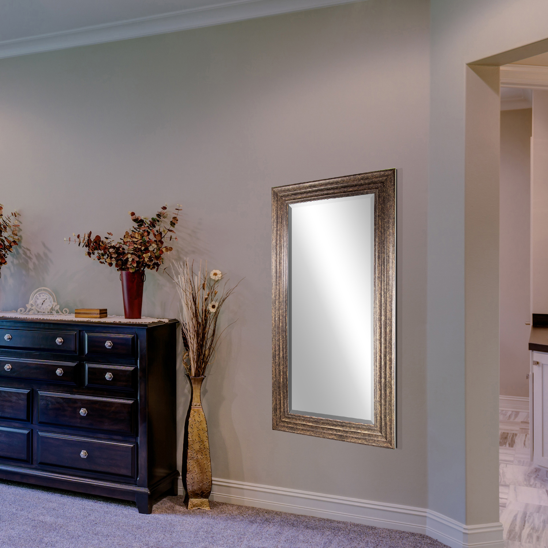 Gold  Everett Rectangular Wall Vanity Mirror