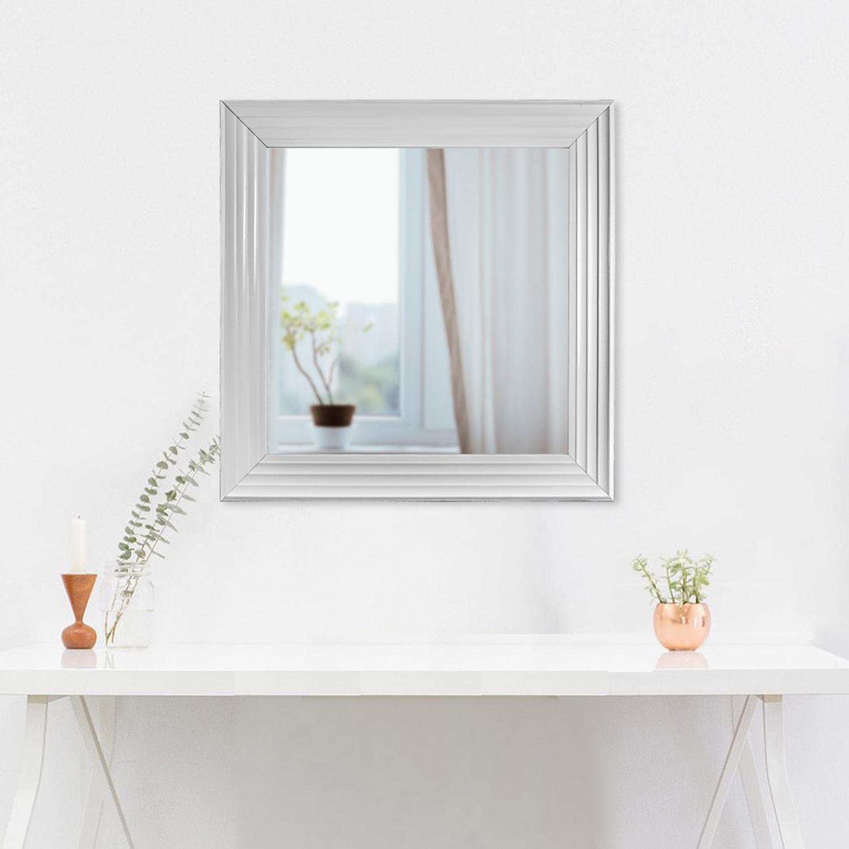 Gray Everett Medium Square Wall Vanity Mirror