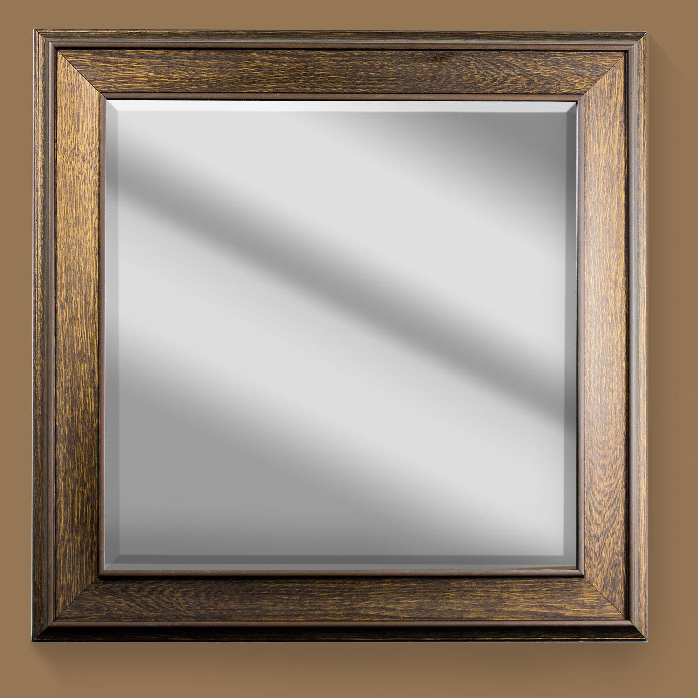Gold Everett Square Framed Mirror