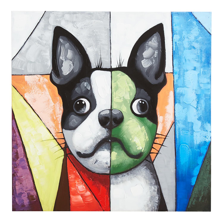Color Blocks Dog Art