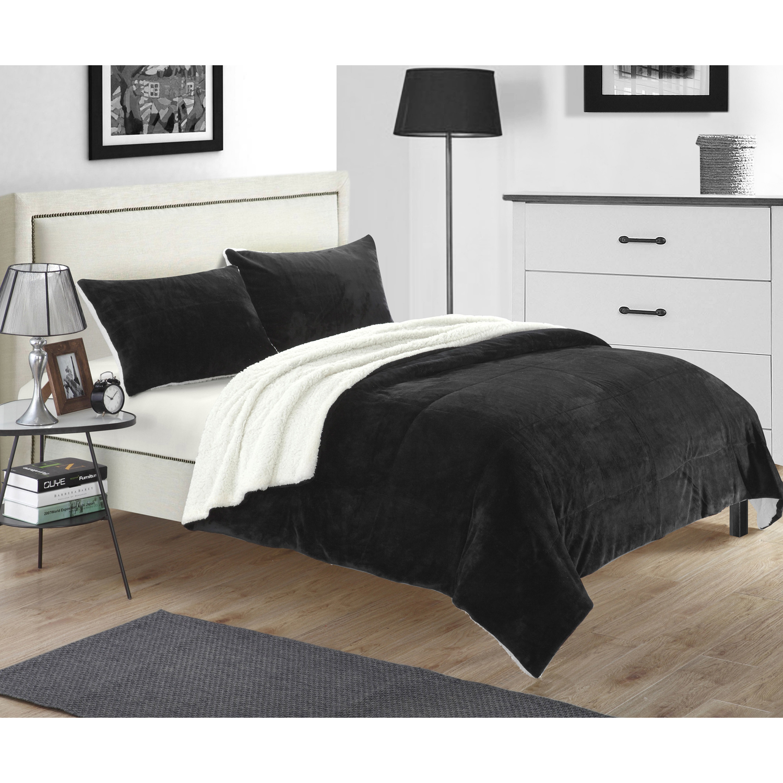 Ernest 3 Piece Non Kit Blanket Black