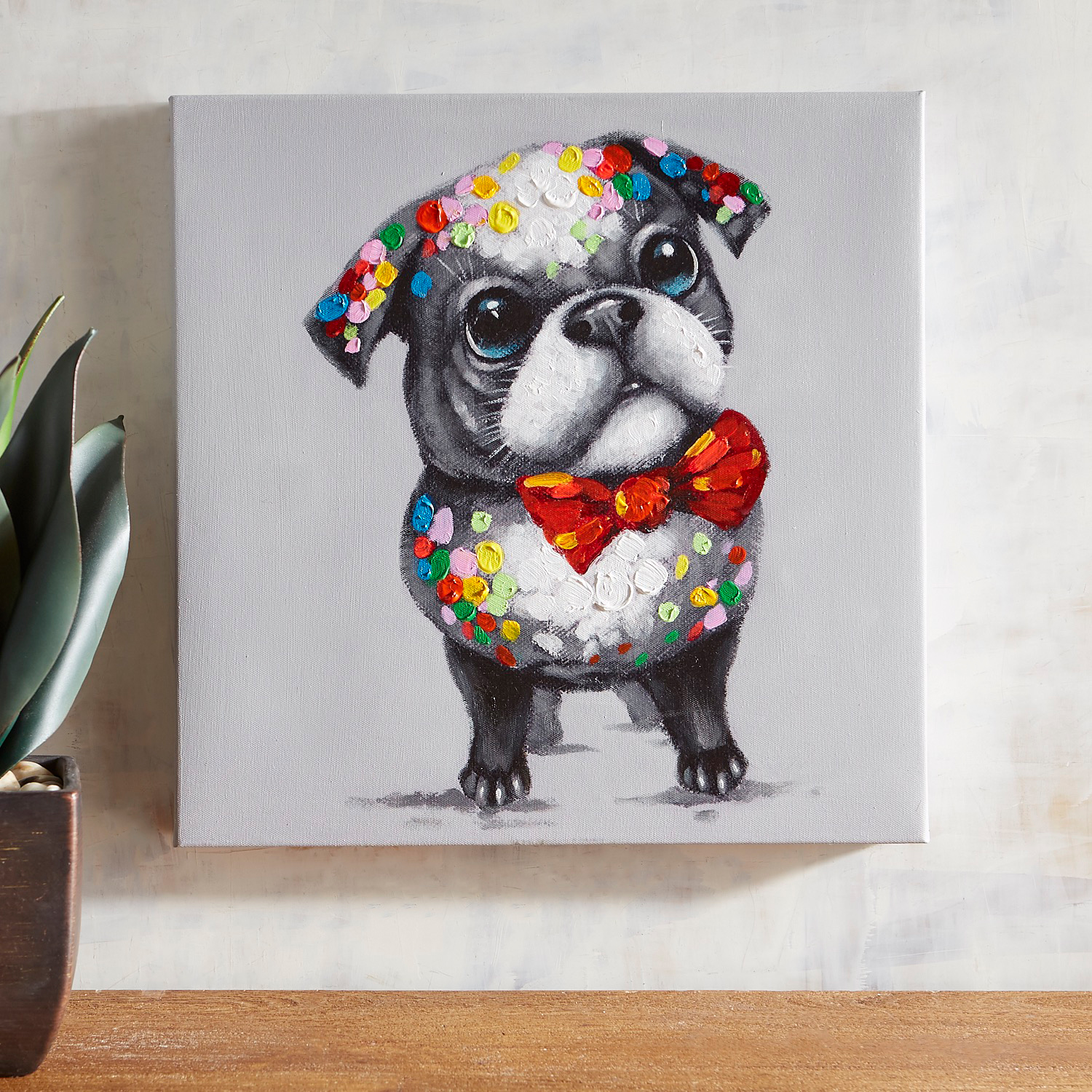 Bow Tie Pup Wall Art