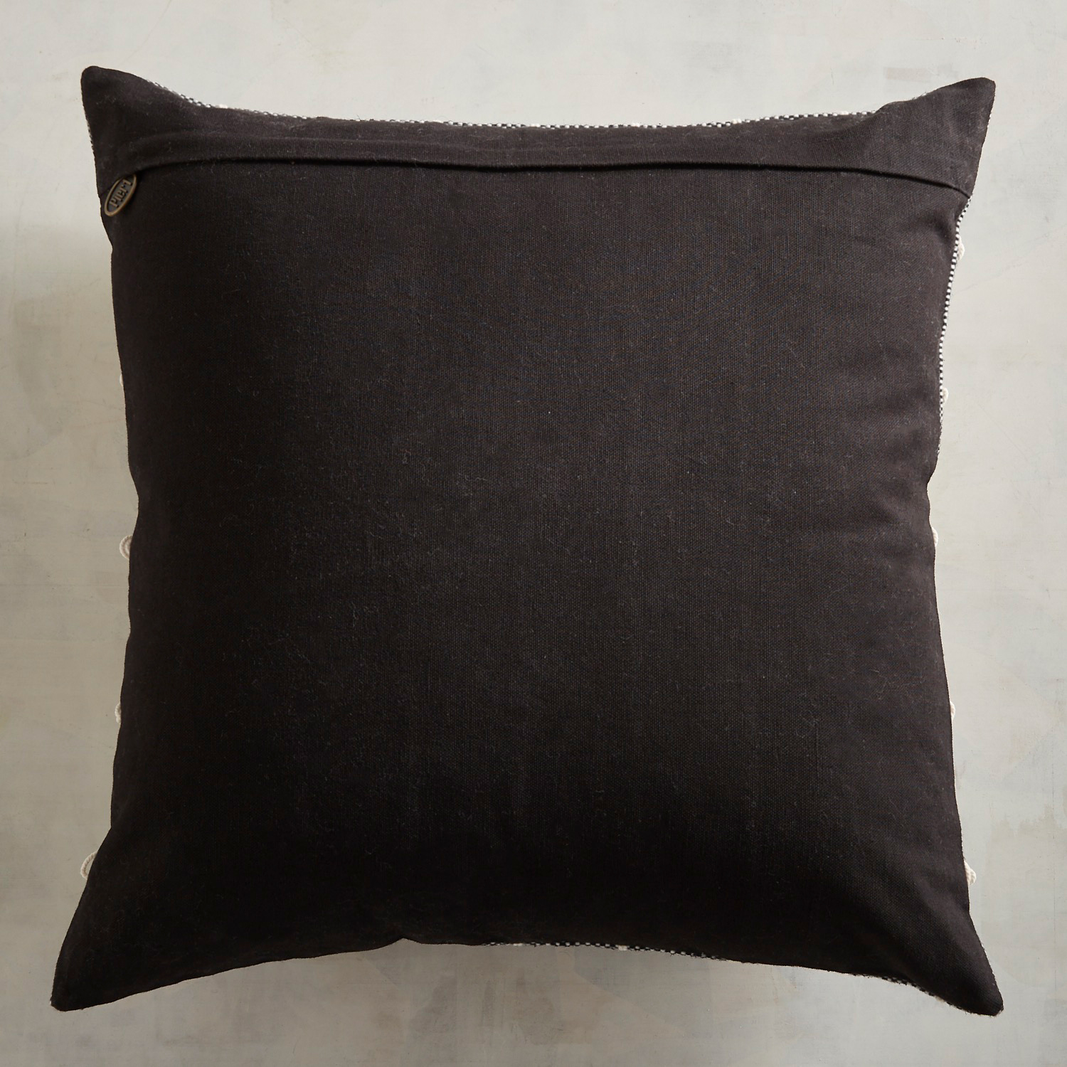 Textured Bow Gray Pillow