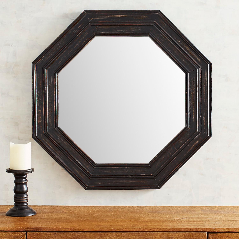 Rustic Black Mirror