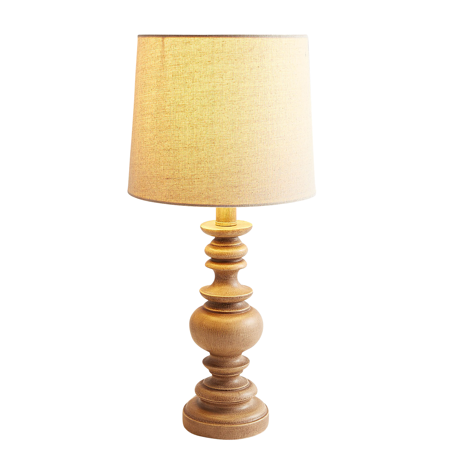 Gray Washed Tablestick Accent Lamp