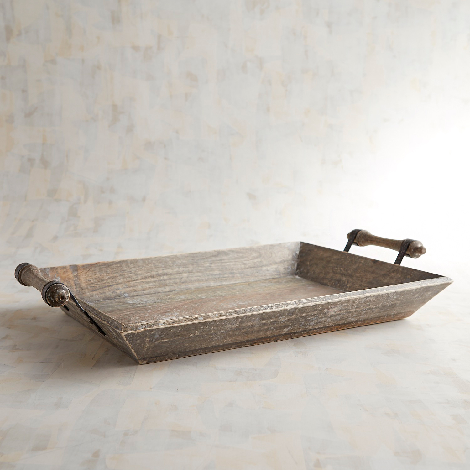Anne Wooden Tray with Handles