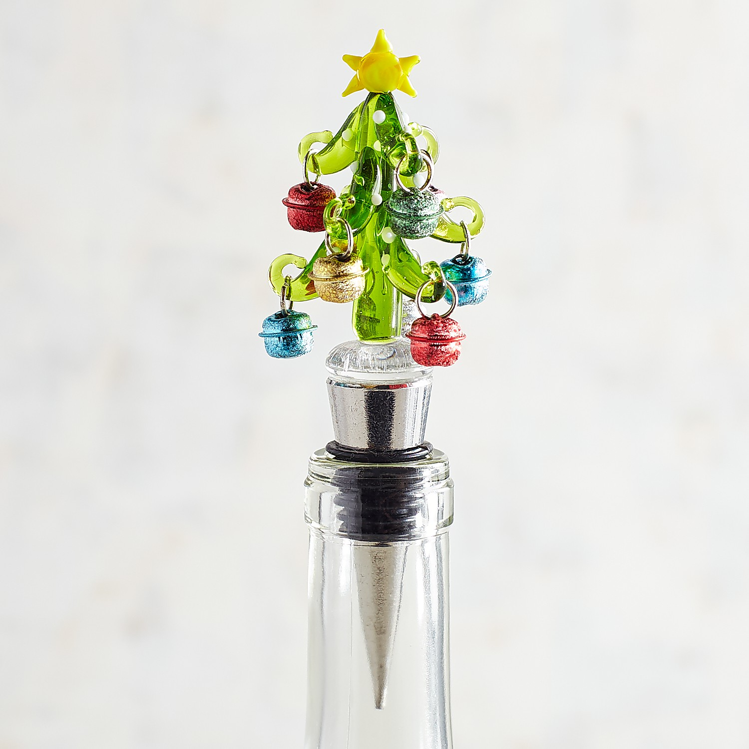 Christmas Tree with Bells Bottle Stopper