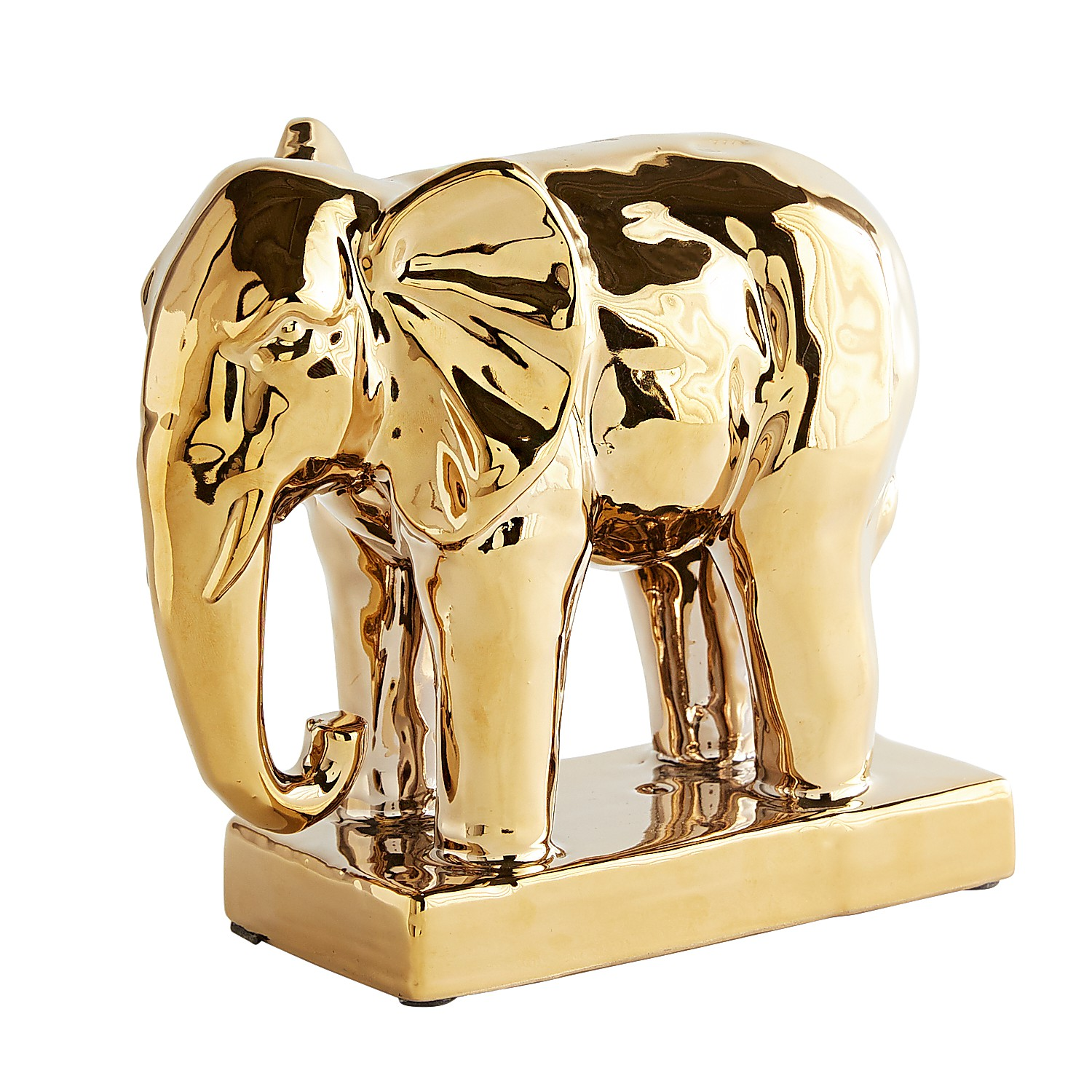 Golden Elephant Figurine
