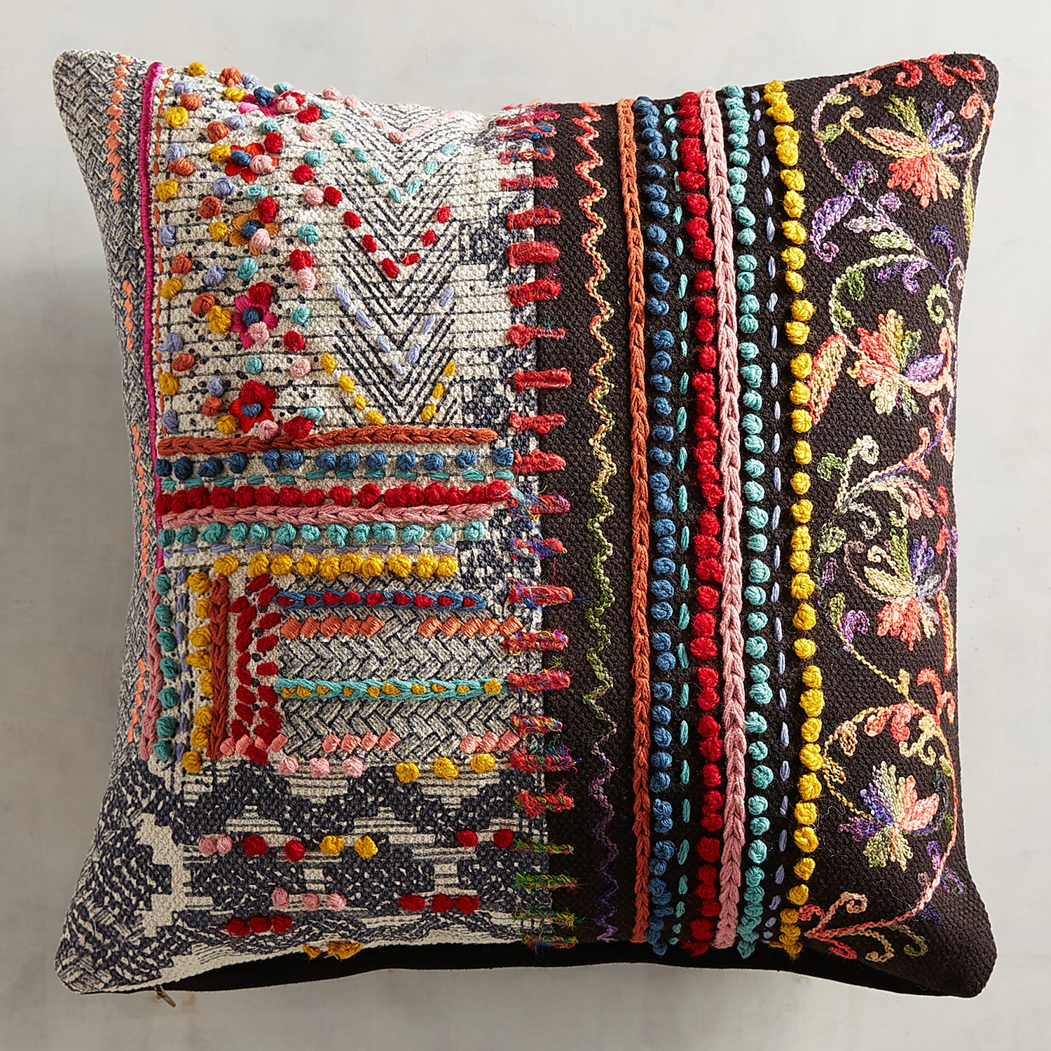Global Patchwork Pillow