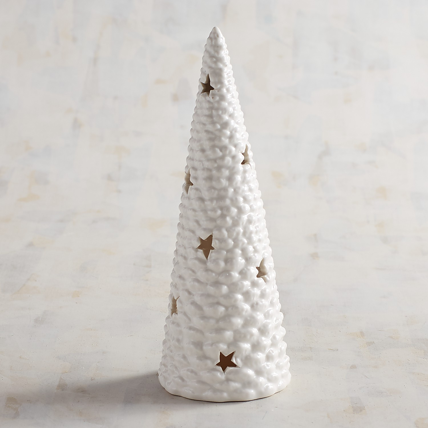 White Tree Tealight Candle Holder