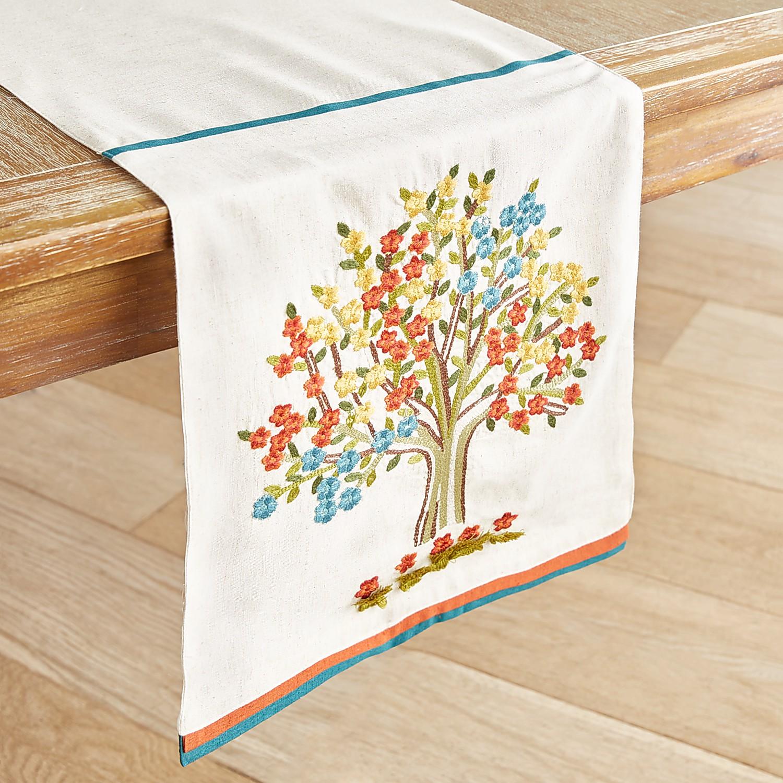 """Luster Leaves Tree 72"""" Table Runner"""