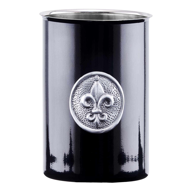 Black Fleur De Lis Tool Caddy