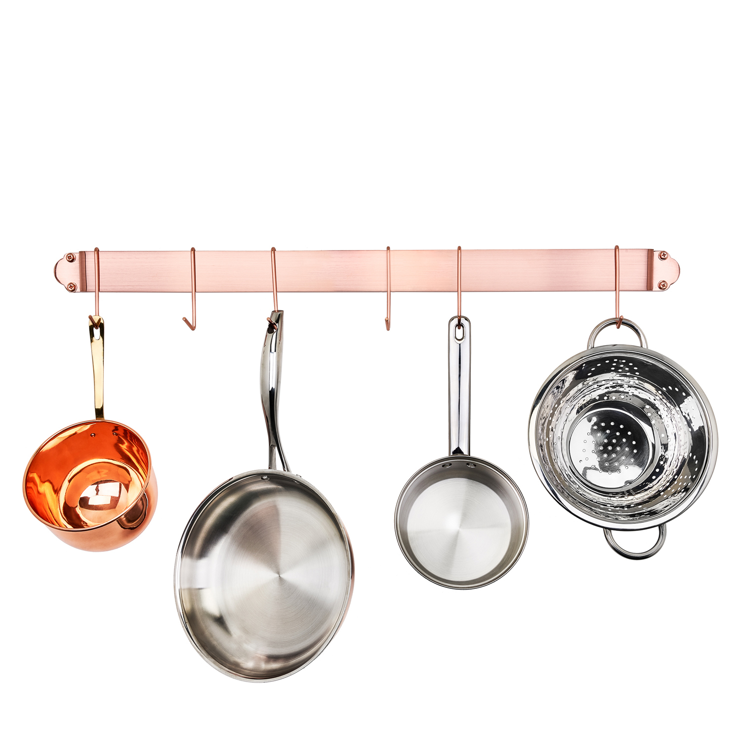 Copper Bar Rack with 6 Hooks
