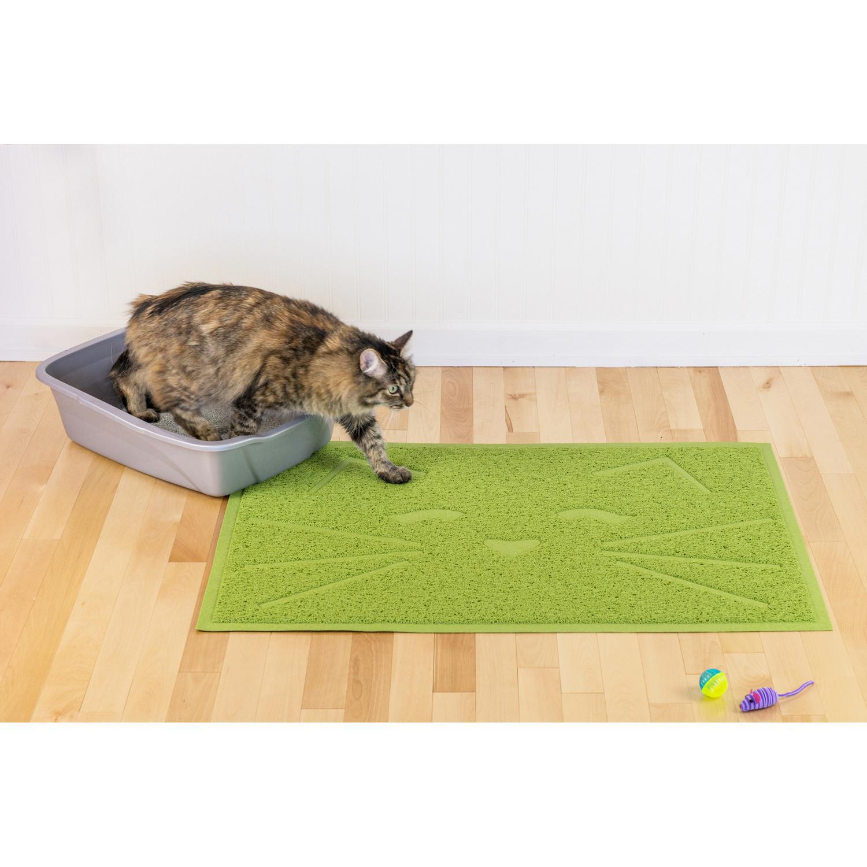 Tiger Tough Cat Litter & Food Mat in Green