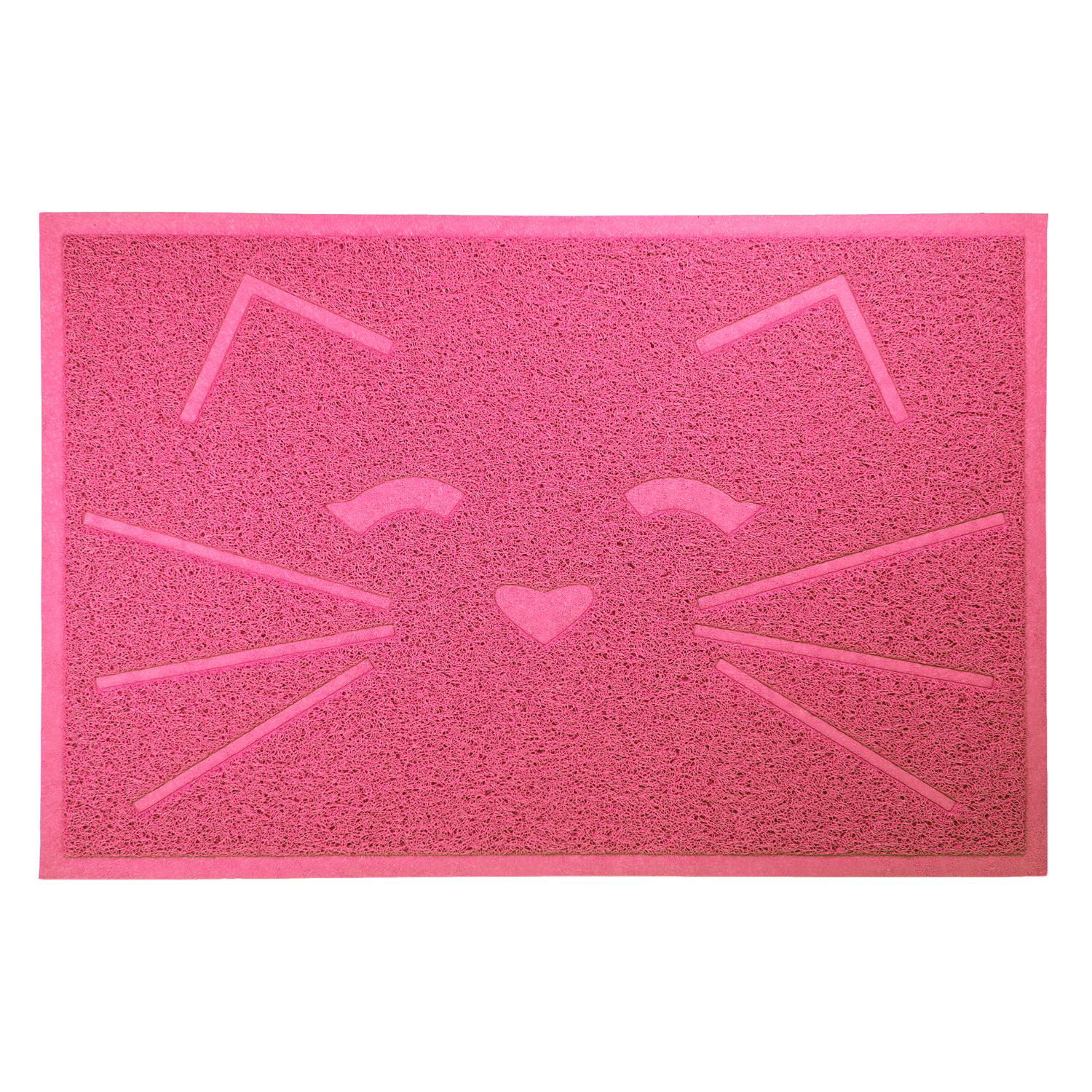 Tiger Tough Cat Litter & Food Mat in Pink