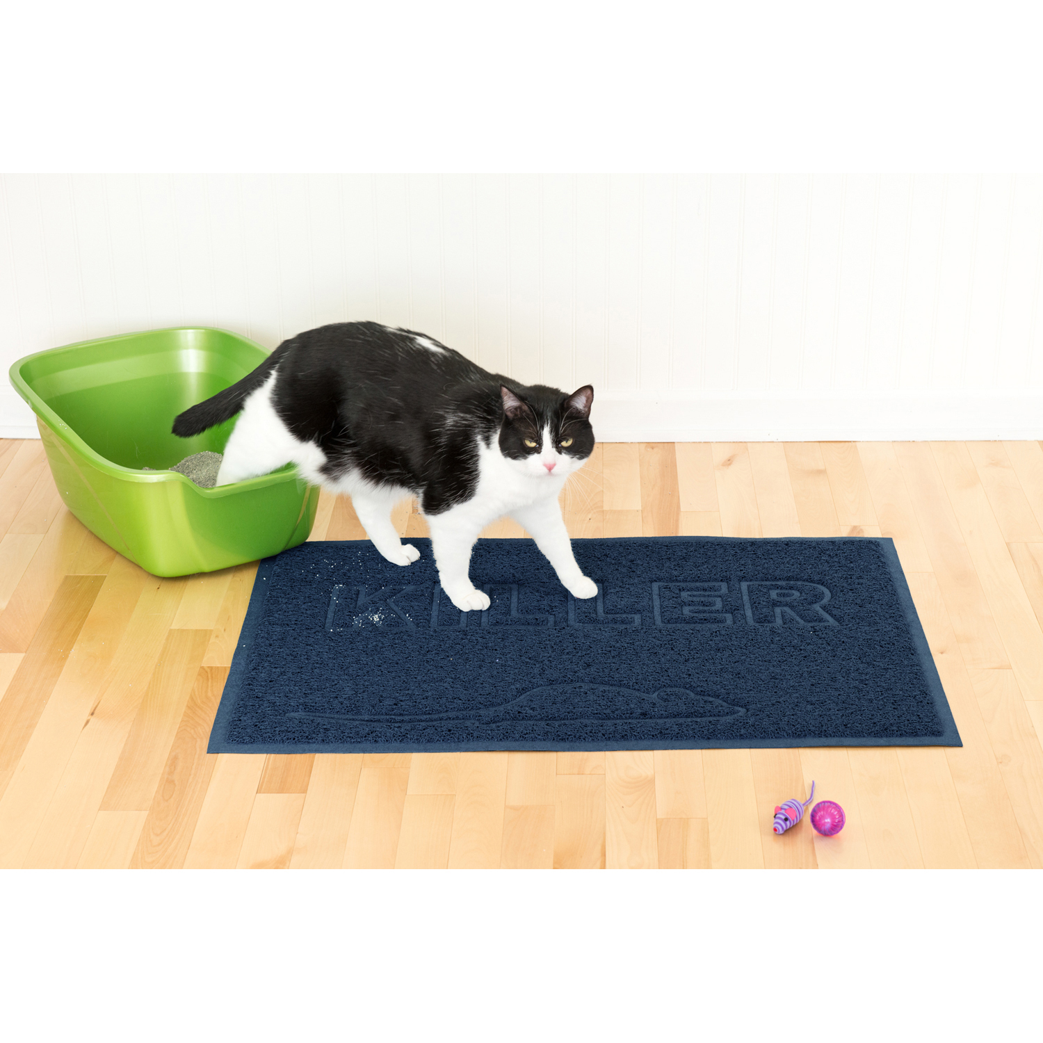 Tiger Tough Tidy Paws Litter & Food Mat in Navy