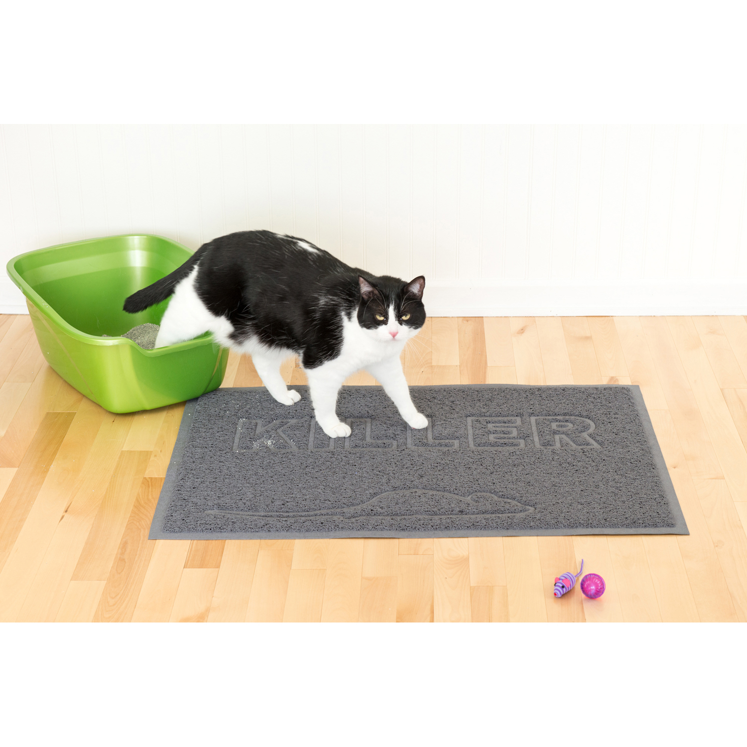 Tiger Tough Tidy Paws Litter & Food Mat in Gray