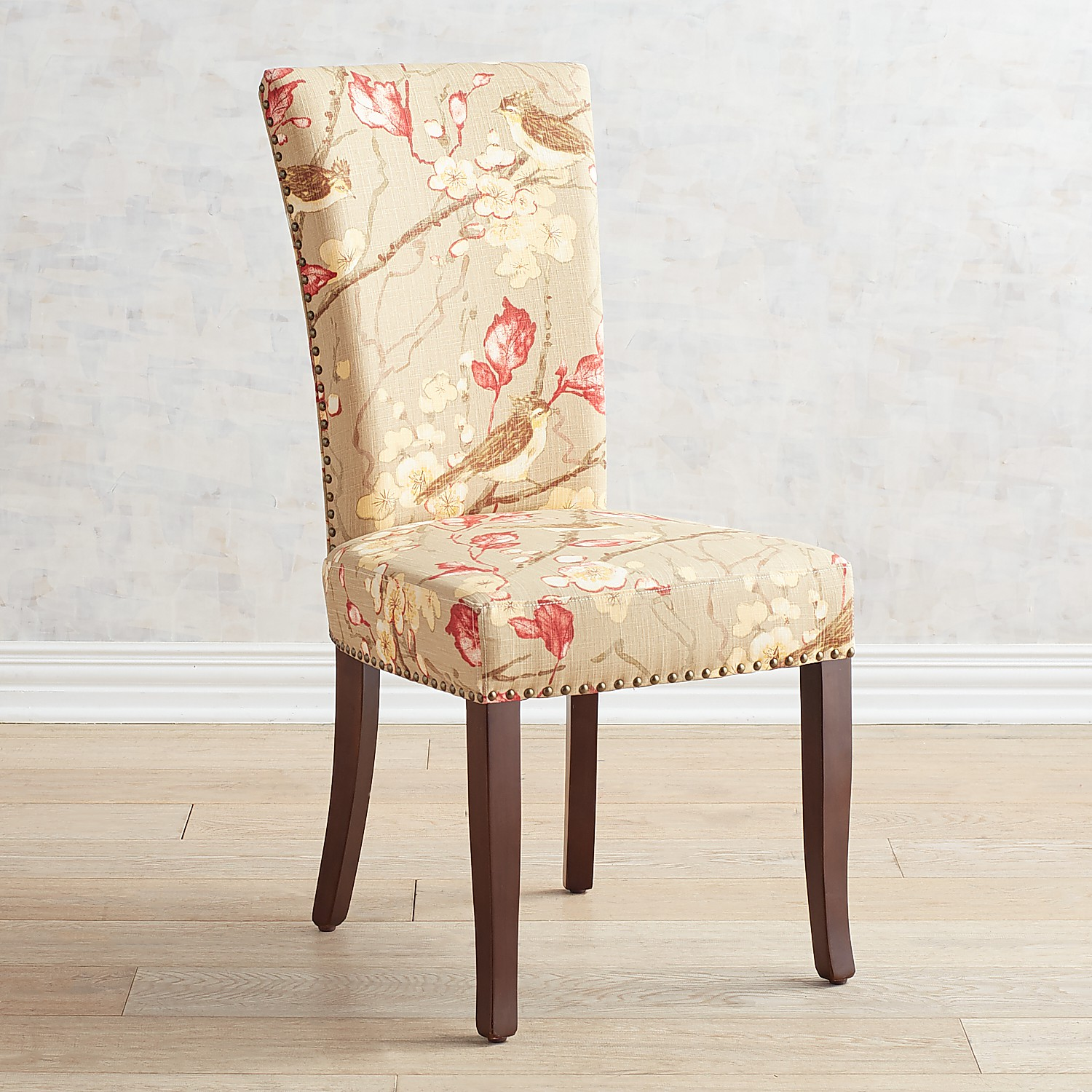 Adelaide Yosemite Khaki Dining Chair with Walnut Brown Wood