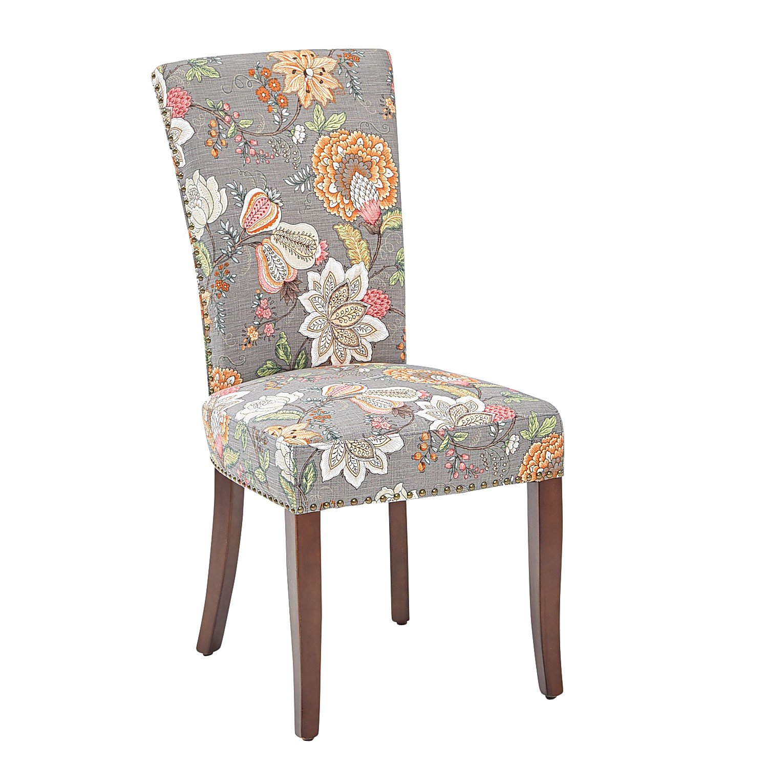 Adelaide Berlin Taupe Dining Chair with Walnut Brown Wood