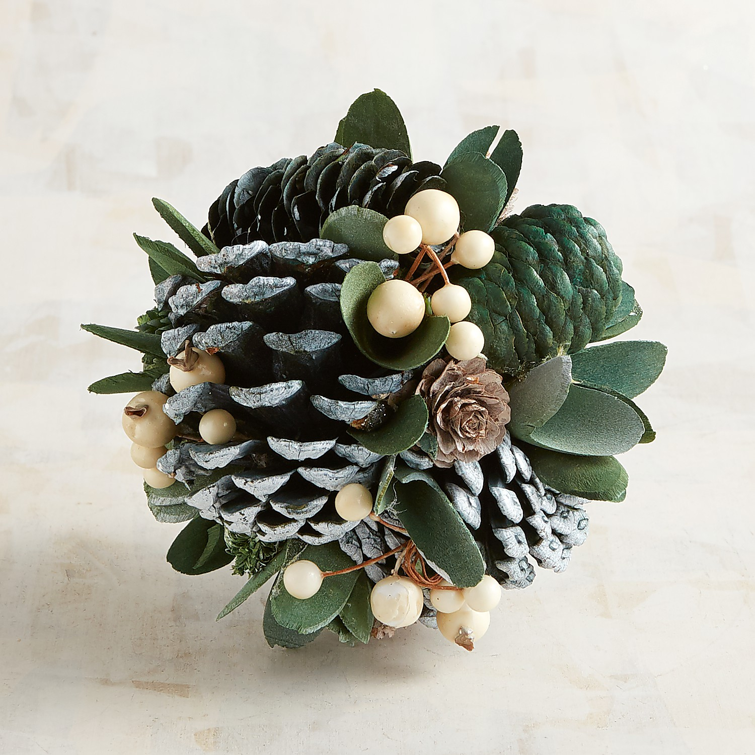 Green Pinecone Decorative Sphere