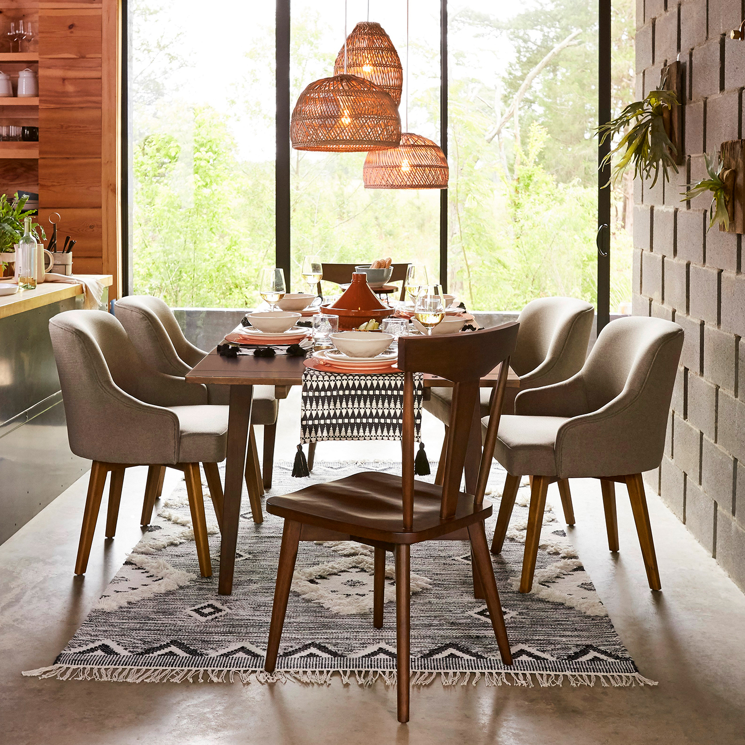 Milano Brown Cafe Extension Dining Table