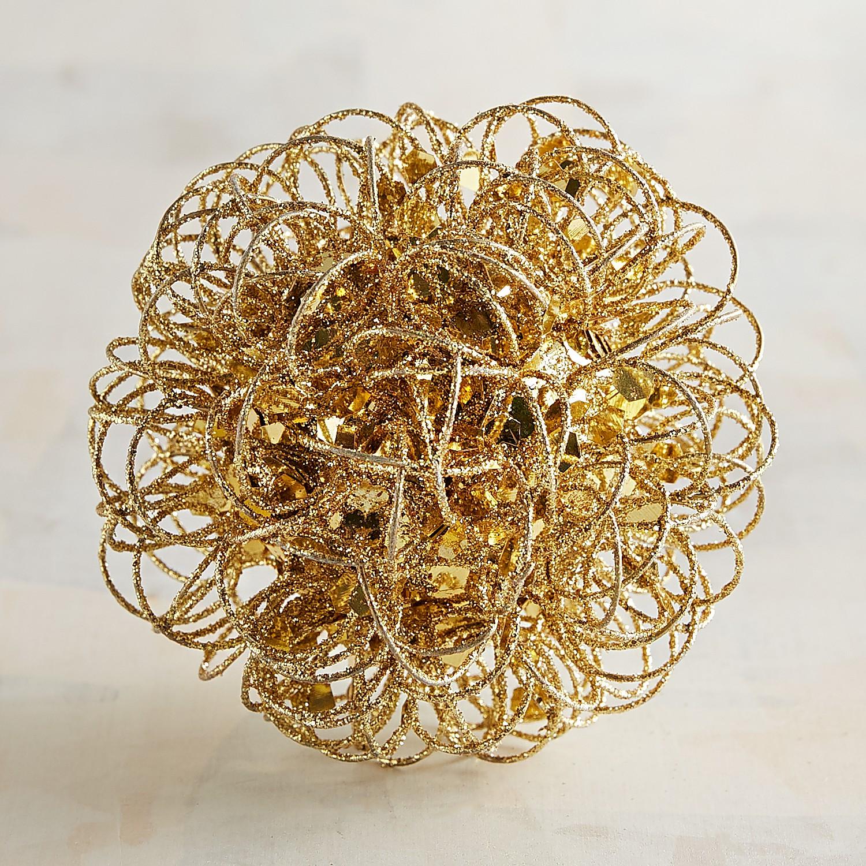 Gold Wire Decorative Sphere