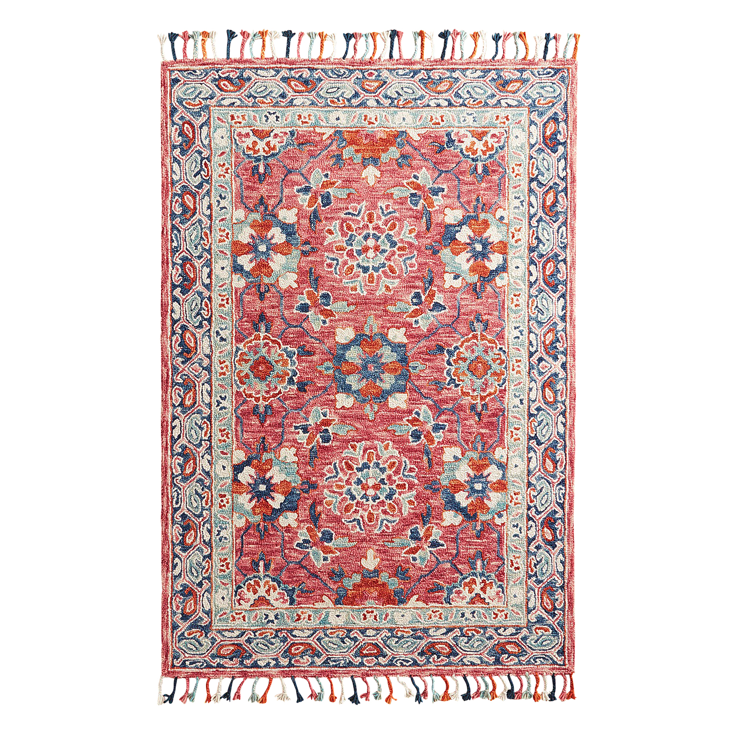 Gia Hooked Berry 5x8 Rug