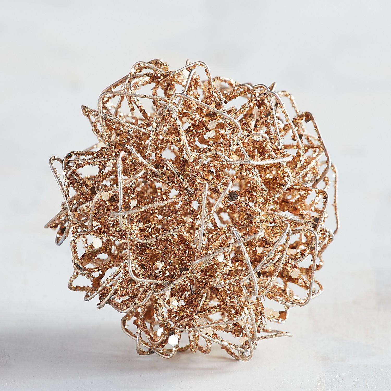 Mini Gold Wire Decorative Sphere