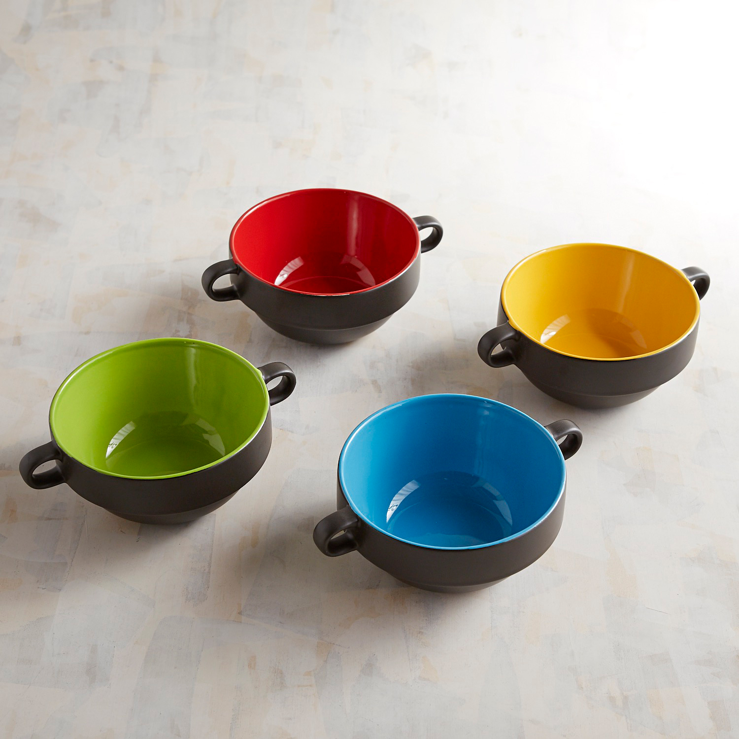 Black Stackable Bowl Set