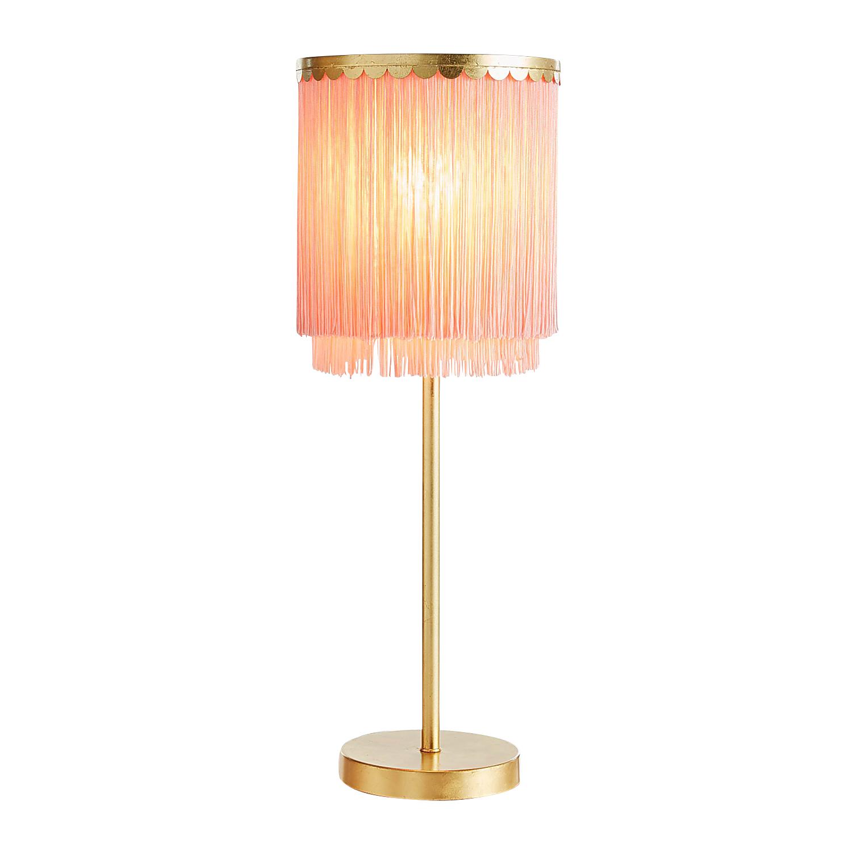 Blush Tasseled Desk Lamp