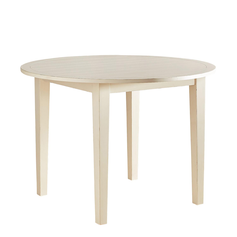 """Eli Rain White 42"""" Round Dining Table"""