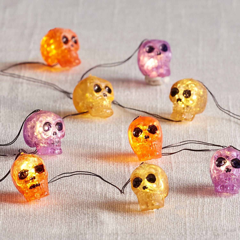 10' Multicolor Skull Glimmer Strings®
