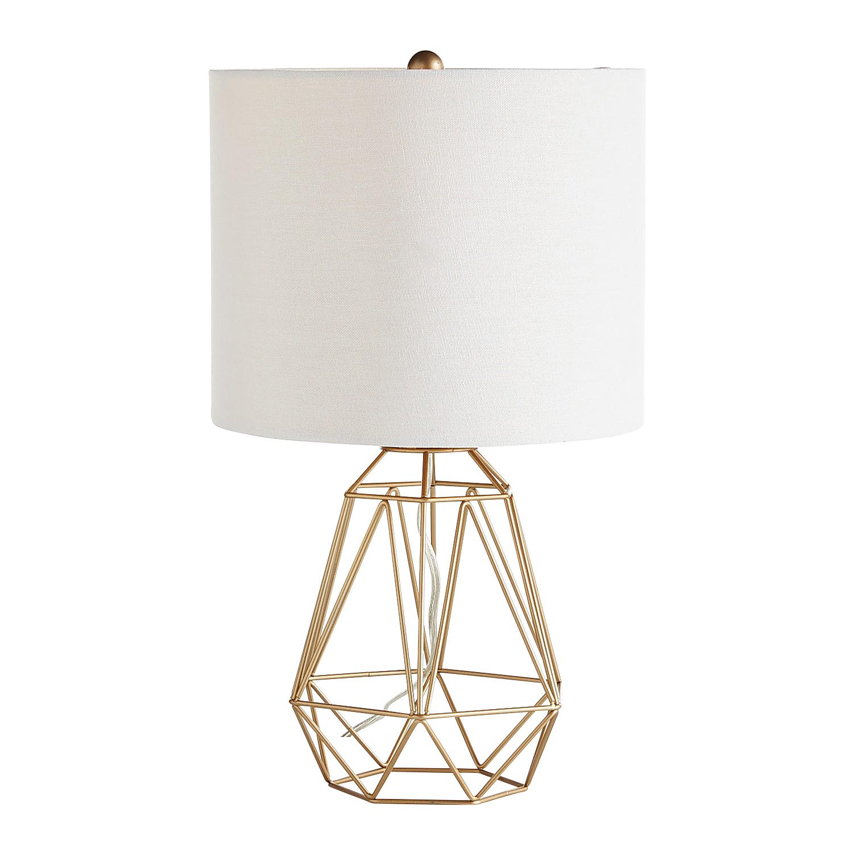 Diamond Golden Wire Table Lamp