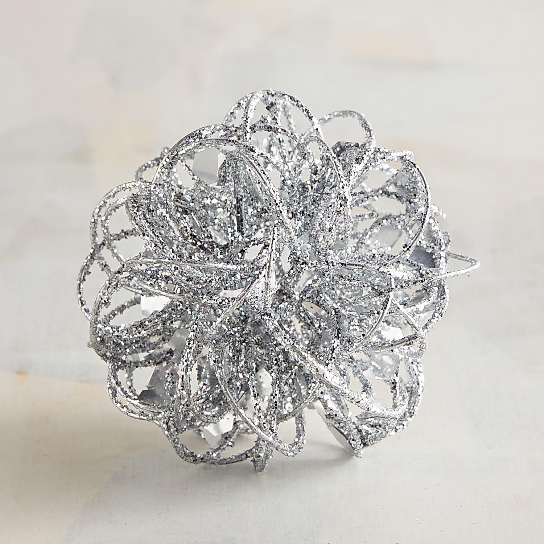 Mini Silver Wire Decorative Sphere