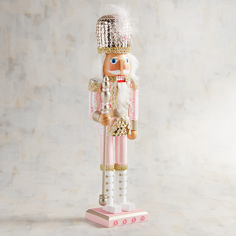 "Pink Sequined 15"" Nutcracker"