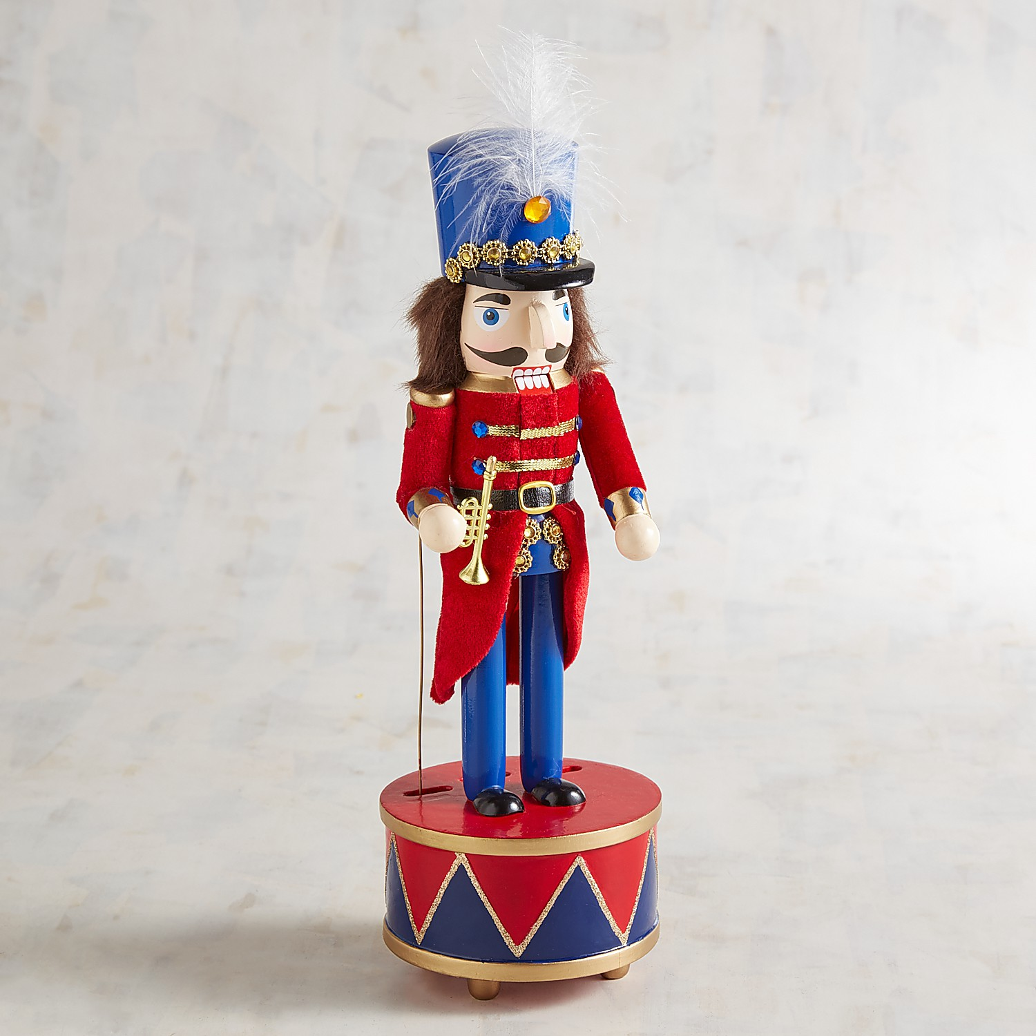 "Marching 15"" Nutcracker Music Box"