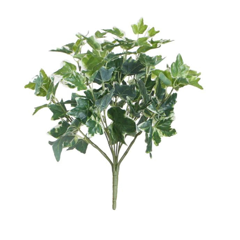 "19"" Decorative Artificial Two Tone Green & White Sweet Potato Spring Floral Bush"