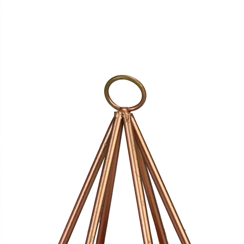 Faux Succulent Arrangement in Copper Wire Frame